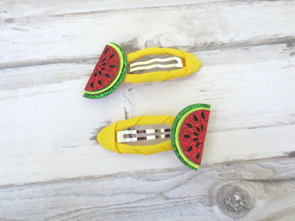 Watermelon Hair Clip Set of Two