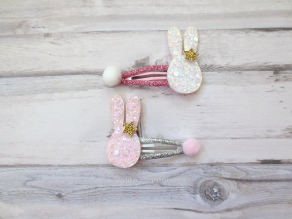 Sparkle Bunny Hair Clip - A set of two