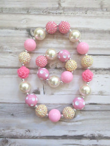 Yellow Golden Brown Bead Necklace