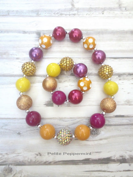Fall Colors Necklace and Bracelet Set