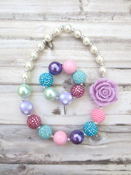 Multi Color Necklace and Bracelet