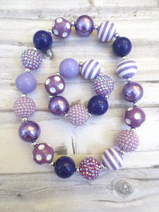 Purple Necklace and Bracelet