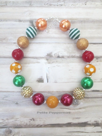 Fall Color Bead Necklace