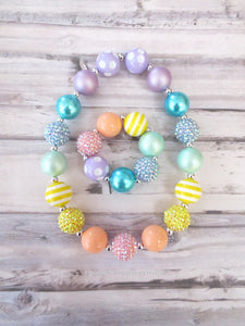 Rainbow Necklace and Bracelet