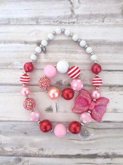 Pink Purple Blue Baby and Girl Necklace