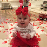 Red Bow Baby Headband