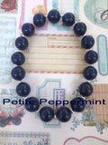 Little Girls Chunky Necklace Set, Girls Bubblegum Chunky Necklace, Navy Blue Chunky necklace,Girl Bead Necklace,Children Necklace