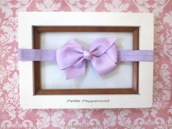 Lavender Baby headband, baby girl headband, newborn headband, toddler headband, Lavender Baby Bow Headband, Lavender Baby Hair Bow