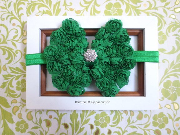 Green baby headband, baby head band bow, girl headband, toddler headband, infant headband, newborn headband, green baby girl hair bow