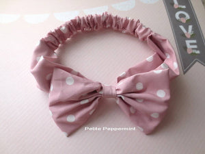 Pink Baby headband, baby girl headband, baby head wrap, toddler headband,Big Bow Headband, Toddler Hair Bow, infant headband, baby hair bow