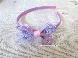 Lavender Baby headband, toddler headband, little girl headband, girl hard headband, toddler hard headband, girl hair bow, plastic headband