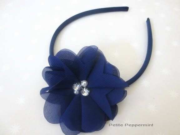Navy Blue Baby bow headband, baby headband, navy blue girl headband,toddler hard headband,girl hair bow,girl bow headband
