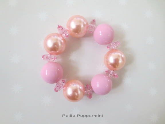 Pink Toddler Bracelet, Girl Bracelet, Girl Bead Bracelet, Stocking Stuffer for Kids, Girl Jewelry, Children Bracelet