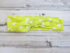 Yellow Baby headband, baby head wrap baby,infant headband, toddler headband, Baby Hair Bow Baby Head Band, Girl Hair Bow, knotted head wrap