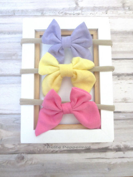 Lavender Yellow Pink Baby headband,baby headband bow,infant headband,toddler headband, newborn headband, baby headband set, newborn hair bow