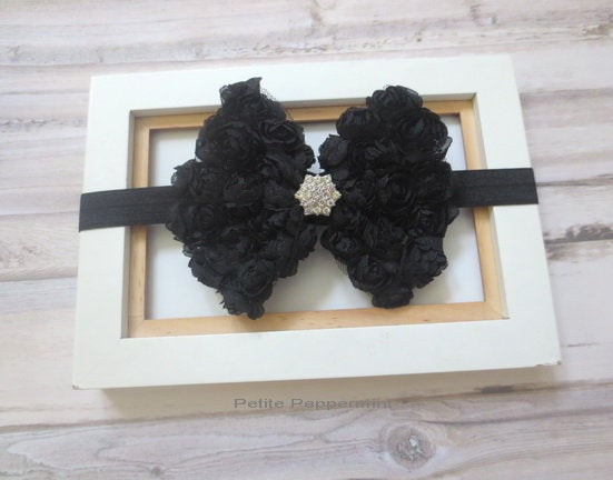 Black Baby headband, newborn headband, infant headband, toddler headband,baby bow headband,baby hair bow,girl bow headband,girl hair bow