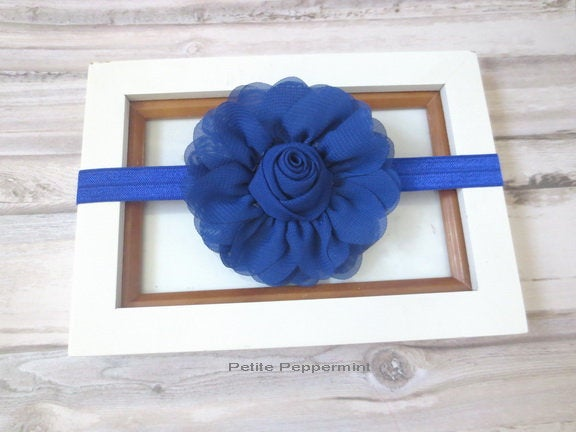 Royal Blue Baby Headband, Baby Bow Headband, Baby Head Band, Toddler Headband, Newborn headband,Infant Headband, Baby Flower Headband