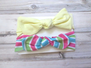 Baby headband, baby head wrap, baby headband set, knotted headband, top knot headband, baby head band bow