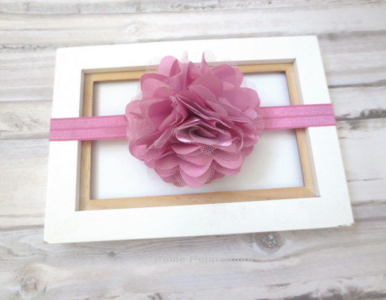 Mauve Baby headband, baby girl headband, newborn headband, toddler headband,baby girl flower headband,baby hair bow,baby girl hairbow