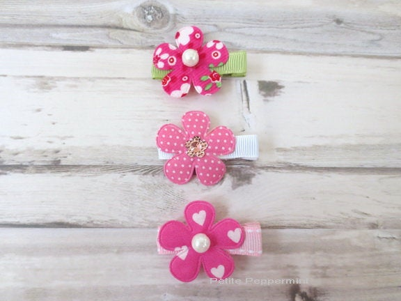 Baby Hair Clip, Toddler Hair Clip, Baby Bow Clip, Girl Hair Clip, No Slip Hair Clip, Girl Barrette, Baby Barette, Set of 3