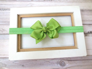 Lime Green Baby Headband, Baby Bow headband, Newborn Headband Toddler Headband, Green Baby Hair Bow, Baby Head Band Bow, Girl Hair bow