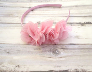 Pink Baby headband, baby girl headband, toddler headband, little girl headband, pink girl hairband, toddler hard headband