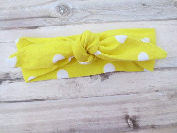 Yellow Baby headband, baby girl headband, baby head wrap, newborn headband, Baby girl head band, Baby Hair Bow, baby headband bow