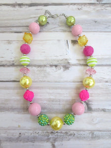 Baby Chunky Necklace, Little Girl Bubblegum Necklace, Children Necklace, Girl Chunky Necklace, Chunky Bead Necklace, Girl Necklace