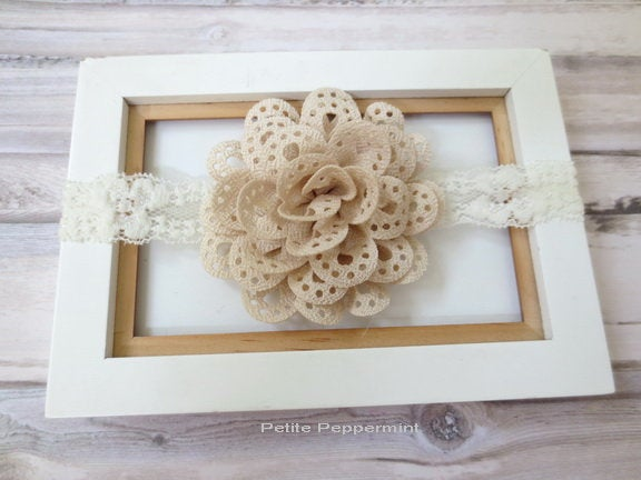 Baby Headband, Baby flower headband, Newborn Headband Toddler Headband, Baby headband lace,  Baby Girl Headband, Girl Hair Bow