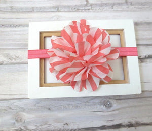 Coral Baby Headband, Baby flower headband, Newborn Headband, Toddler Headband, Girl Hair Bow