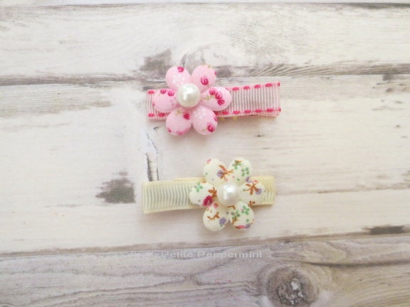 Flower Baby Hair Clip - Toddler Hair Clip - Baby Girl HairClip - Girl Hair Clip - Baby Barette - Girl Hair Bow - Baby Hair Bow