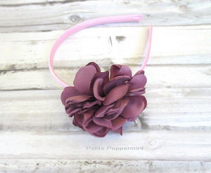 Mauve Baby headband, baby girl headband, toddler headband, little girl headband, mauve girl hairband, toddler hard headband