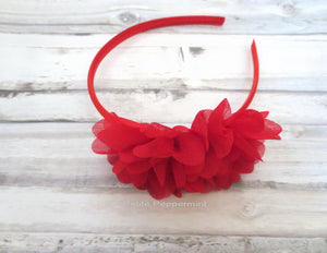 Red Baby headband, baby head band, red girl headband, toddler hard headband, girl hair bow, girl bow headband, girl hair band