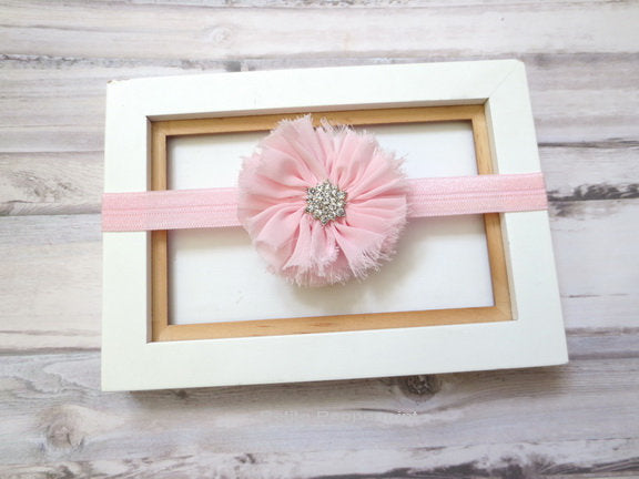 Baby Headband, Newborn Headband, Toddler Headband, Pink Girl Hair Bow, Infant Head Band, Small Flower Baby Head Band