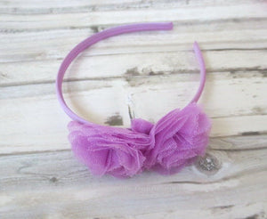 Lavender Baby headband,Baby Girl Headband,Girl Hard Headband, Toddler Headband, Lavender Hair Bow,Baby Hard Headband, Little Girl head band