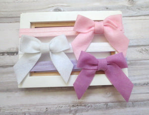 Set of Three Baby headband, newborn headband, baby headband set, toddler headband, infant headband, girl hair bow, baby girl headband