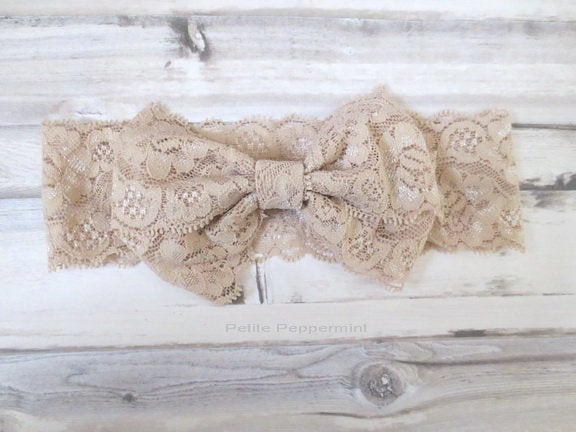 Baby headband, Baby Girl Headband, Infant Headband, Baby headband lace, Baby Bow Headband, Baby Hair Bow, Baby Head Wrap