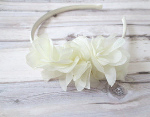 Ivory Baby headband,toddler hard headband,girl plastic headband,girl head band,flower girl headband,Girl hard headband