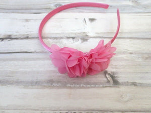 Pink Baby bow headband, baby headband, pink girl headband,toddler hard headband,girl hair bow,girl bow headband, pink flower head band