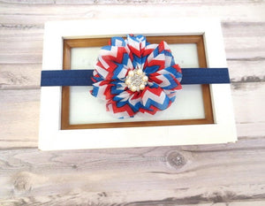 Fourth Of July baby headband, baby head band bow, newborn headband, toddler headband, baby hair bow, girl headband, girl headband