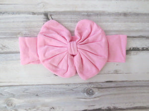 Pink baby headband,baby girl headband, baby head wrap, toddler headband - Baby Turban Wrap, Pink Bow Knot Baby headband, Baby Bow Headband