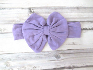 Lavender Baby headband, Baby Headwrap, Knit Baby Headband, Baby Turban Bow, newborn headband, baby headband bow, top knot headband