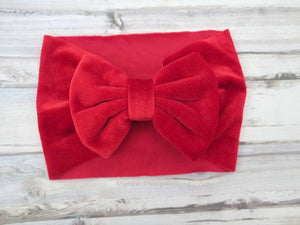 Red Baby Headband, Baby Knot Headband, Top knot baby head band, baby turban, Knotted bow headband, baby head wrap, newborn headband