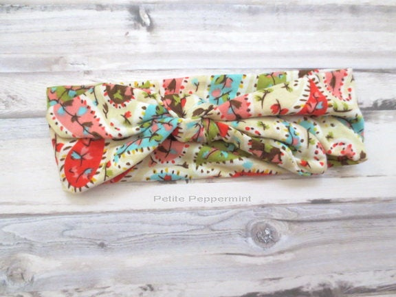 Baby headband, baby head wrap, toddler headband, bow knot headband, baby headband bow, top knot headband, cotton baby headband,baby hair bow
