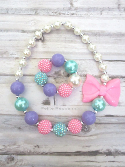 Baby Necklace, Girl Necklace, Bubblegum Necklace, Baby Chunky Necklace, Chunky Bead Necklace, Necklace for Girl