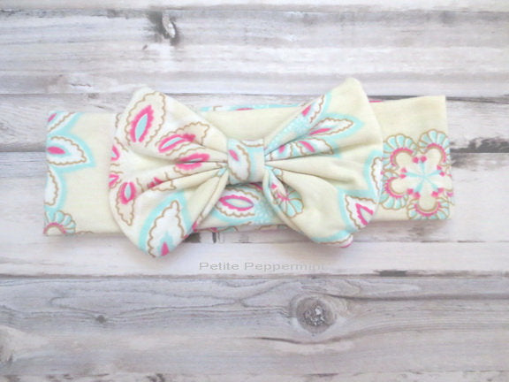 Baby Headband, Baby Bow Headband, Girl Hair bow, Newborn Headband, Baby Hair Bow, Baby head wrap, infant headband