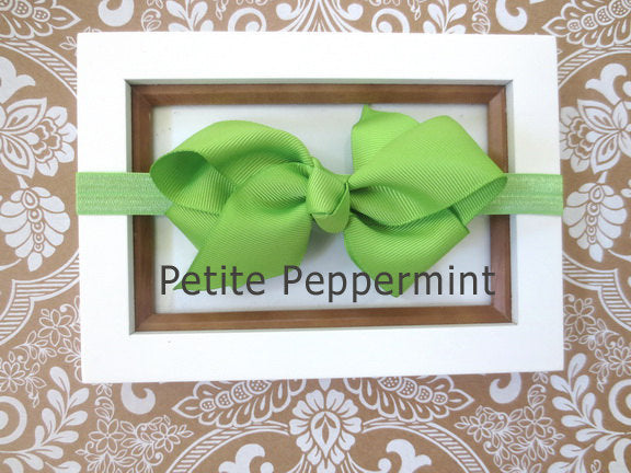 Lime Green Baby headband, baby girl headband, newborn headband, toddler headband, Lime Green Bow Headband,Baby Hair Bow,Lime Green Bow