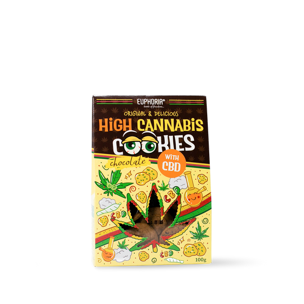 High Cannabis Cookies Chocolate 100 Gramm