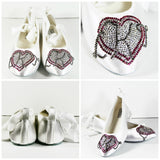Bridal Ballet Flats with Crystal Monogram - Wicked Addiction