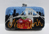 Crystal New York Purse: Clutch with Famous NY Icons - Wicked Addiction